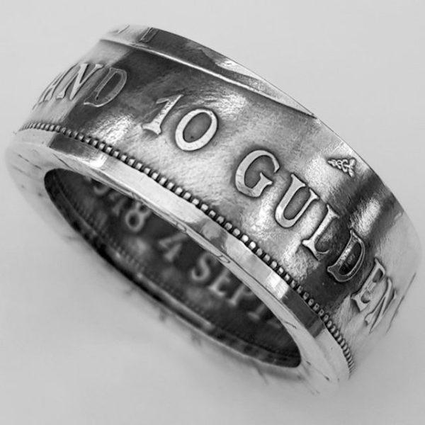 Zilveren 10 gulden muntring