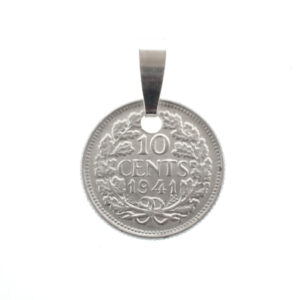 Munthanger zilveren dubbeltje